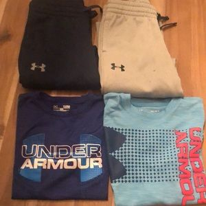 GUC Under Armour Large Youth 2 sweats & 2 T-shirts